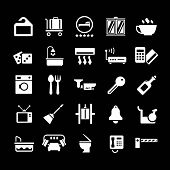 Set Icons Of Hotel, Hostel And Rent Apartments