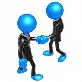 3D Businessmen Shaking Hands