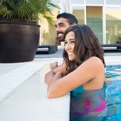 Couple In Pool