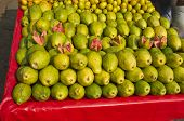 Fresh Sweet Guava Fruits Group In Street Market , India