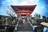 Kiyomizu-dera Temple Gate In Kyoto, Japan