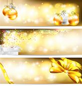 Golden Celebration And Sales Ornament Banner Background, Create By Vector