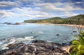 stock photo of karnataka  - Om beach at blue sky in Gokarna Karnataka India - JPG