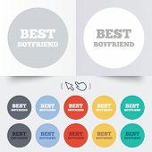 Best boyfriend sign icon. Award symbol.