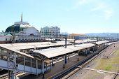 Krasnoyarsk railway station platform