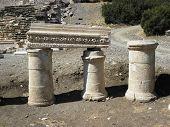 Columns with inscriptions in qancient Kibyra.