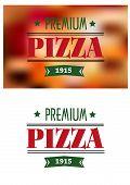 Italian premium pizza poster