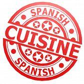 Spanish Cuisine Stamp