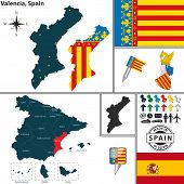 Map Of Valencia, Spain