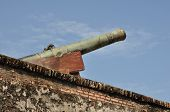picture of 1700s  - Greenish cannon made by the British in 1700s - JPG