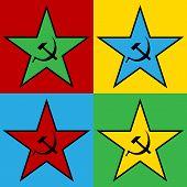 Pop Art Communist Star
