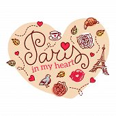 stock photo of moulin rouge  - Paris symbols - JPG