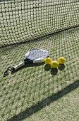 Paddle Tennis  Objects With Hard Sun Shadow