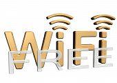 Sign of a free wireless communication