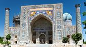 picture of samarqand  - View of Sher Dor Medressa  - JPG