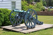 foto of cannon-ball  - vintage cannon from the civil war - JPG