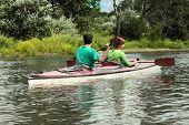 Active People In Kayak