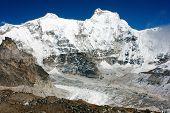 Hungchhi Peak And Chumbu Peak Above Ngozumba Glacier