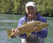 Big Brown Trout from the Río Palena, Chile