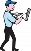 Plasterer Masonry Worker Trowel Cartoon