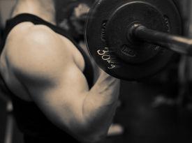 image of body builder  - bodybuilding workout in gym - JPG