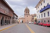 Street By Plaza De Armas In The Center Of Cuzco.