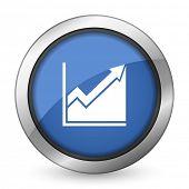histogram icon stock sign