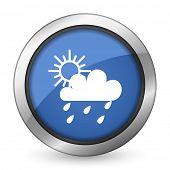 rain icon weather forecast sign