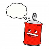 foto of spray can  - cartoon spray can with thought bubble - JPG