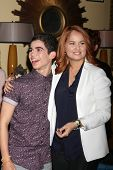 LOS ANGELES - FEB 12:  Cameron Boyce, Debby Ryan at the Disney Channel's
