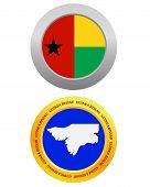 Button As A Symbol  Guinea Bissau