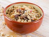 Healthy Muesli Breakfast In A Bowl .