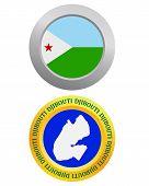 Button As A Symbol Djibouti
