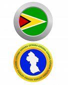Button As A Symbol Guyana
