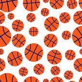 Basketball Seamless Vector Pattern
