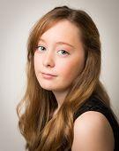 Portrait Of A Beautiful Ginger Teenage Girl