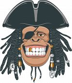 foto of pirate hat  - Vector illustration - JPG