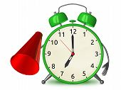 Green Alarm Clock With Megaphone