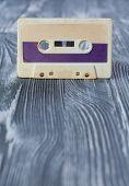image of violets  - Music template postcard - JPG