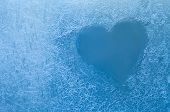 foto of frozen  - Frozen heart - JPG
