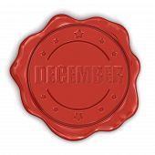Wax Stamp december (clipping path included)
