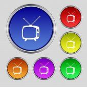 stock photo of tv sets  - Retro TV mode sign icon - JPG