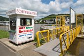 Ticket Shop For Tourists Who Want To Make A Cruise Over River Moselle