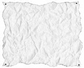 Wrinkled White Paper With Nails