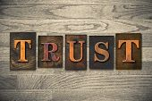 foto of trust  - The word  - JPG