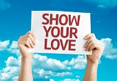 Show Your Love card with sky background