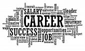 Job Career Opportunity word cloud illustration