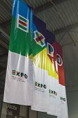 Expo Banners At Bit 2015, International Tourism Exchange In Milan, Italy