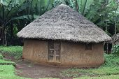 picture of mud-hut  - Traditional Ethiopian house. Omo Rift Valley. Ethiopia. Africa