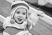 Toddler Girl Showing Tongue